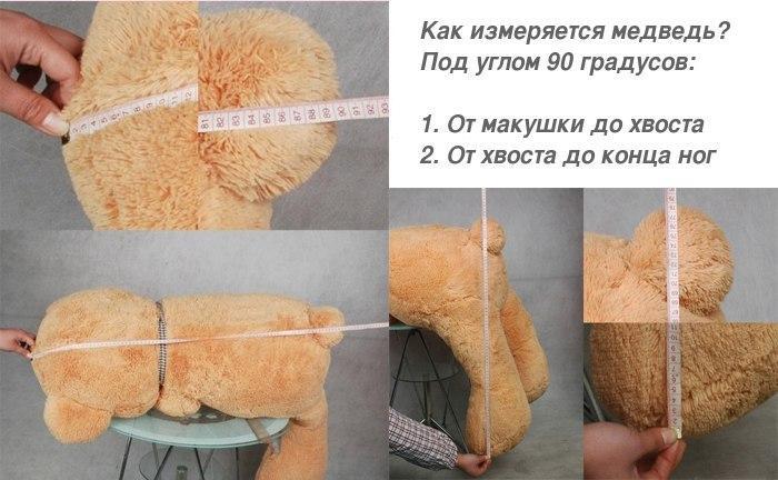 Правильное измерение плюшевых медведей